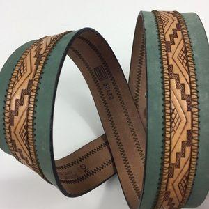 "Genuine Leather Western Embossed Belt - 40"""